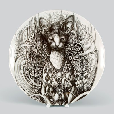 Sphinx. Porcelain plate