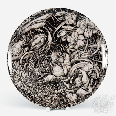 Spring Flowers. Porcelain plate