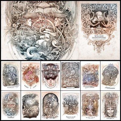 William Shakespeare: Set of 12 postcards