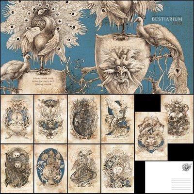 Bestiarium: Set of 10 postcards