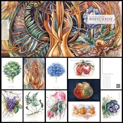 Watercolor: Set of 10 Postcards