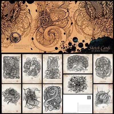 Sketch Card: Set of 10 postcards