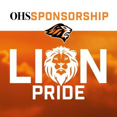 2020-21 OHS Sponsorship:  LION PRIDE