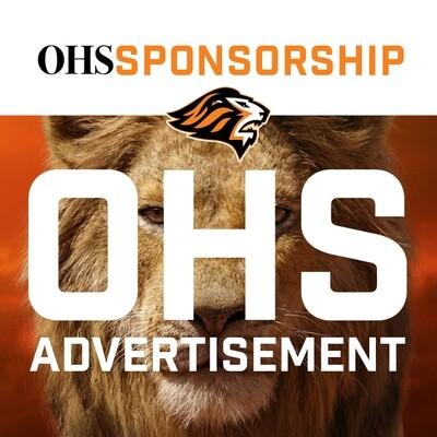2020-21 OHS Sponsorship:  ADVERTISEMENT: John Courier Field
