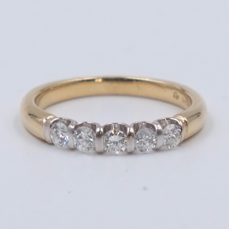 Vintage 14K Yellow Gold with Diamonds