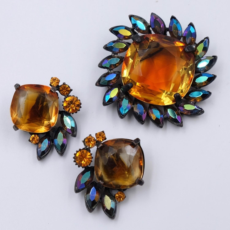 Vintage Claudette Set brooch and Earrings