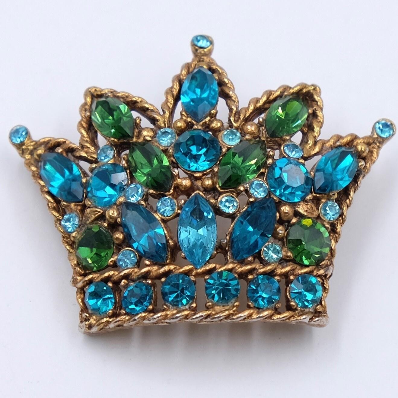 Vintage Regency Crown Brooch