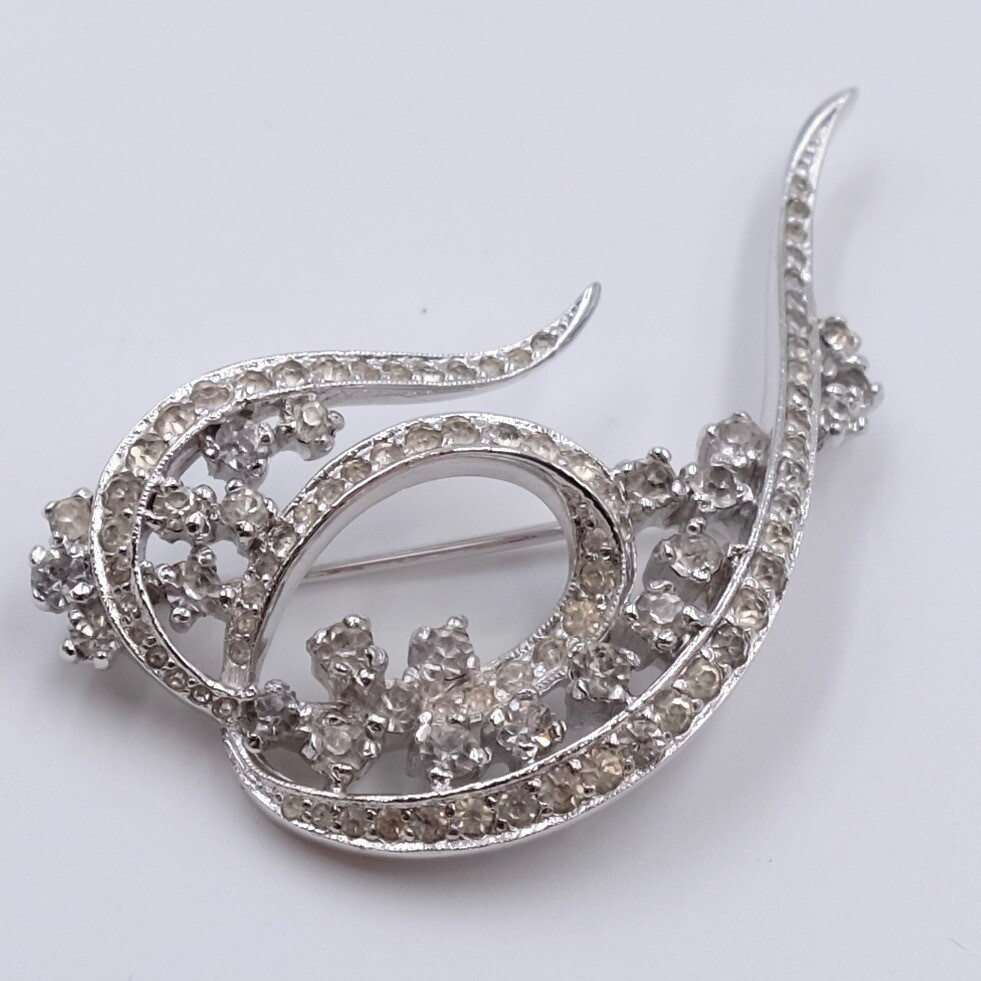Винтажная брошь имитация бриллиантов Panetta 1960е