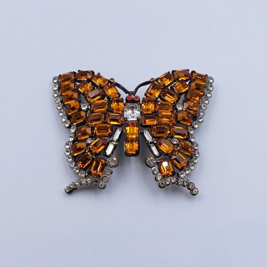Vintage Butterfly Czech Brooch 1930's