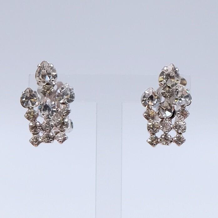 Christian Dior Vintage Rhinestones Earrings 1970's