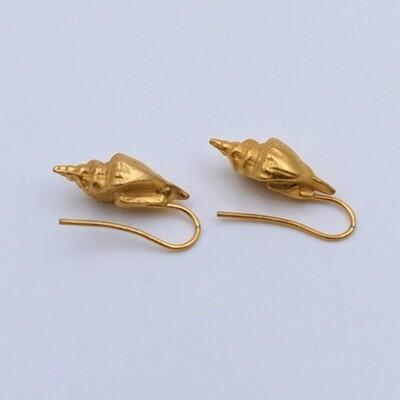 Винтажные  миниатюрные серьги в виде раковин