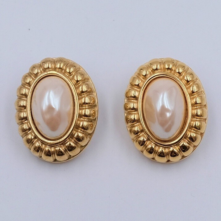 Vintage Givenchy Faux Pearl Earrings