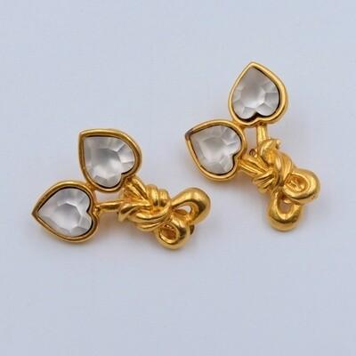 Vintage Sonia Rykiel Hearts Earrings