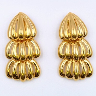 Vintage Massive Givenchy Clip on Earrings