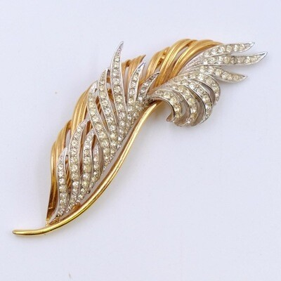 Vintage Boucher Feather Brooch 1960's