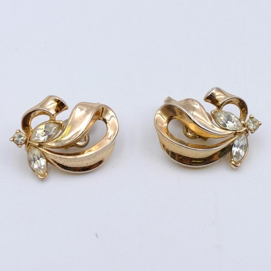 Vintage Trifari Butterfly Earrings 1950's