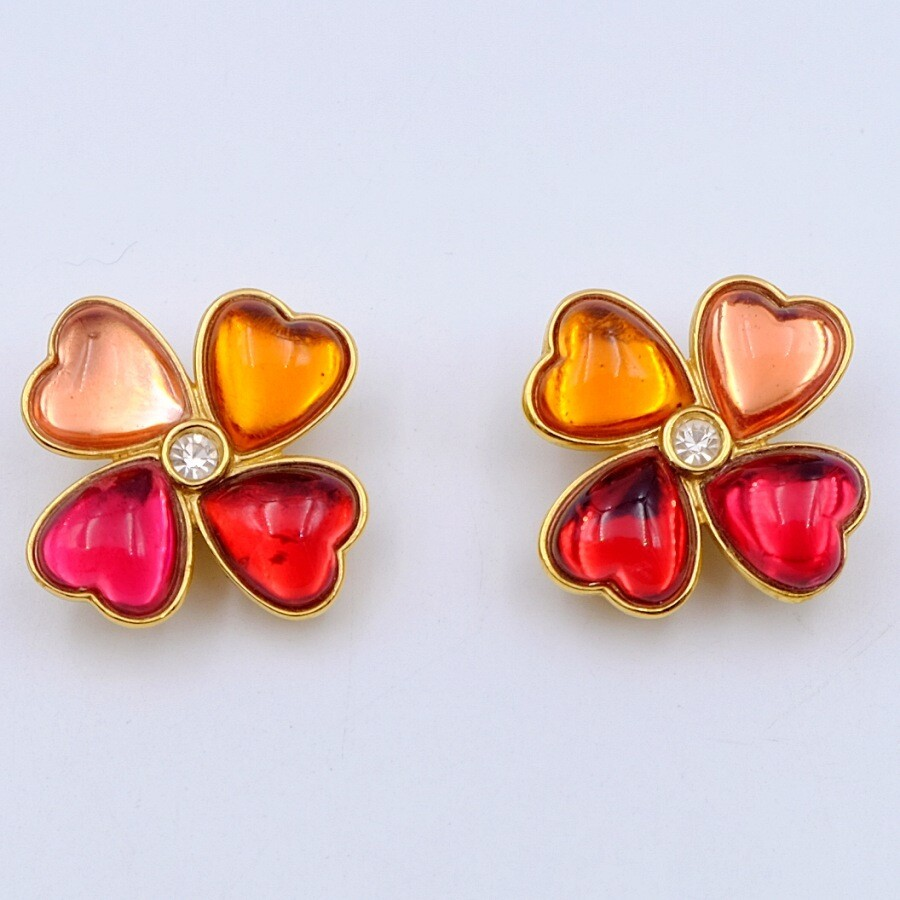 Vintage YSL Iconic Earrings Multicolor 1980s