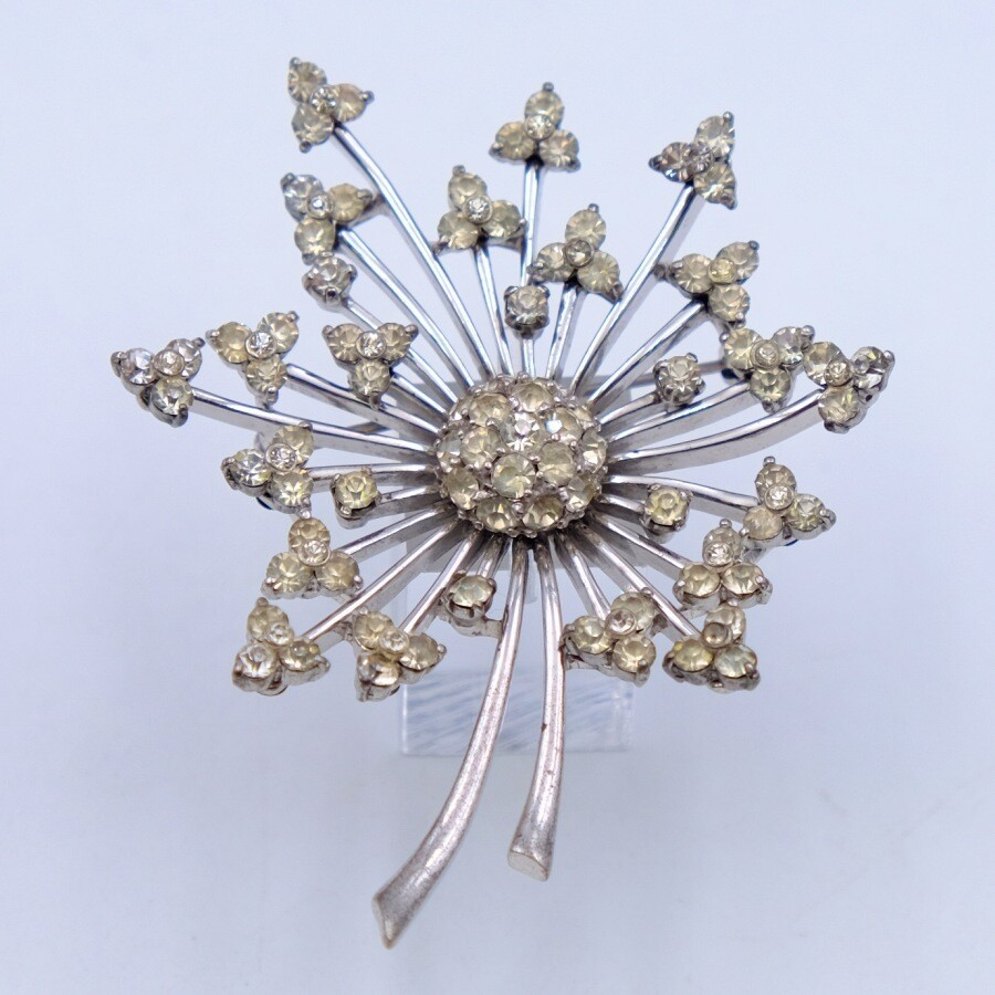 Vintage Pennino Sterling Flower Brooch 1950s
