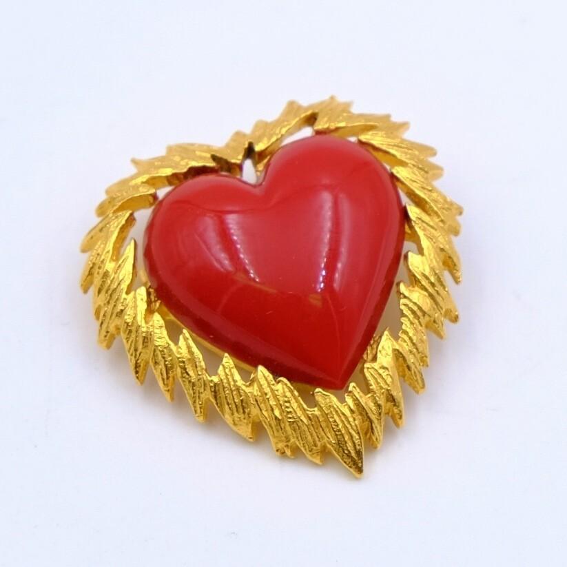 Vintage Mini Heart Brooch 1990s