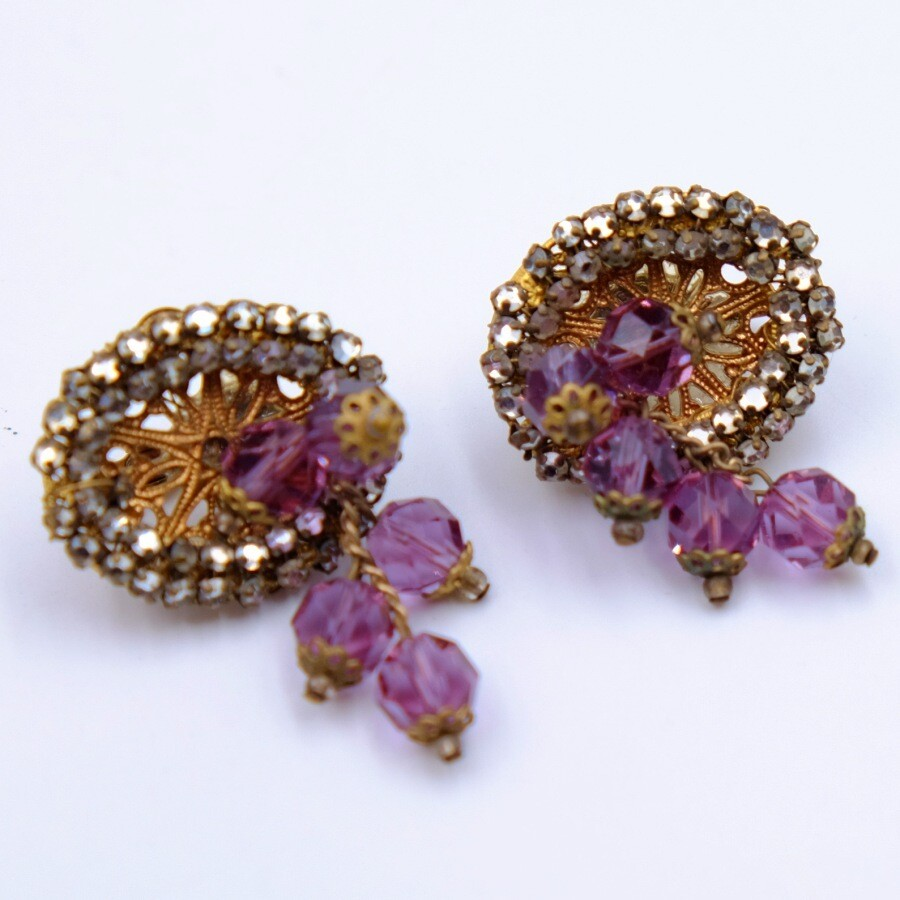 Vintage Miriam Haskell Earrings 1950s