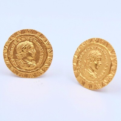Vintage Coins Clip on Earrings 1980s