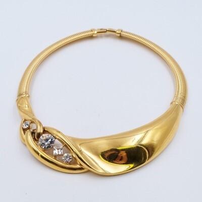 Vintage Givenchy Rhinestones Necklace 1980s
