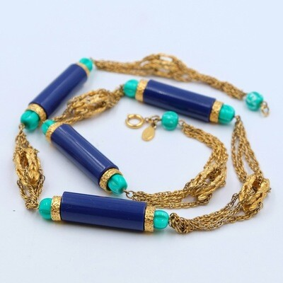 Vintage Alice Caviness Egyptian Revival Necklace 1970s