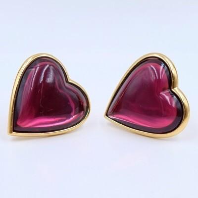 Vintage YSL Hearts Massive Earrings