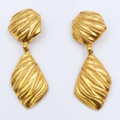 Vintage YSL Geometry Earrings 1980s