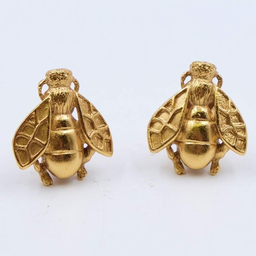 Rare and collectible Christian Dior Bee Earrings