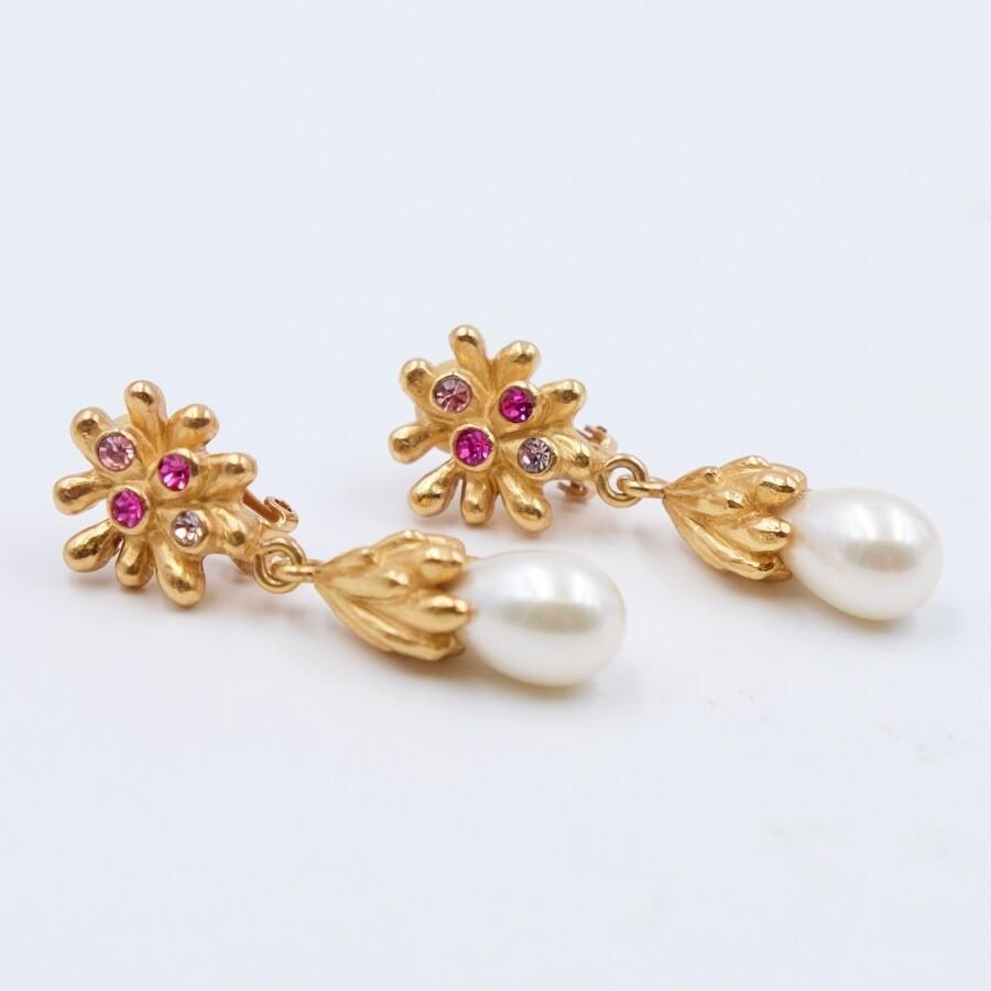 Vintage Christian Lacroix Faux Pearl Earrings