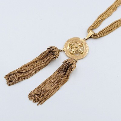 Collectible YSL Early 1970s Tassel Necklace