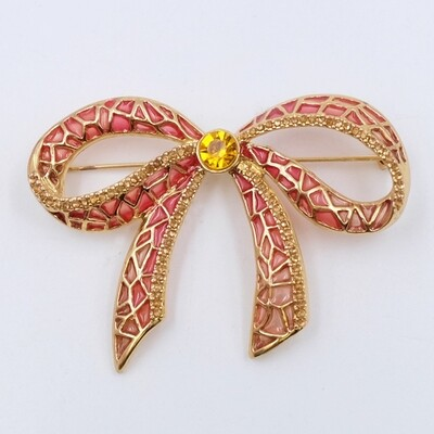 Vintage Bow Brooch 1990s