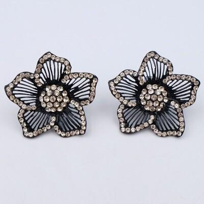 Vintage Massive Flower Earrings