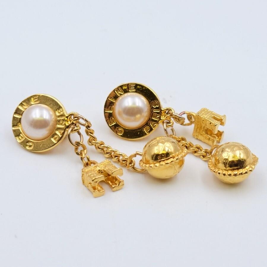 Vintage Celine Clip on Earrings
