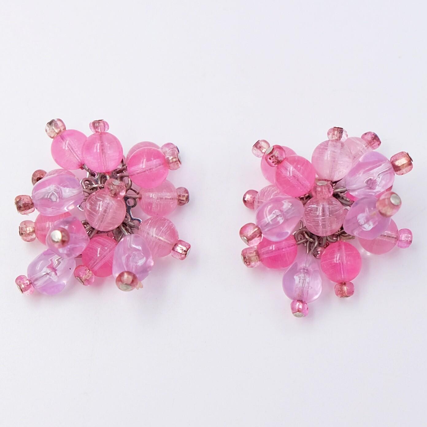 Vintage Glass Marvella Earrings 1960s