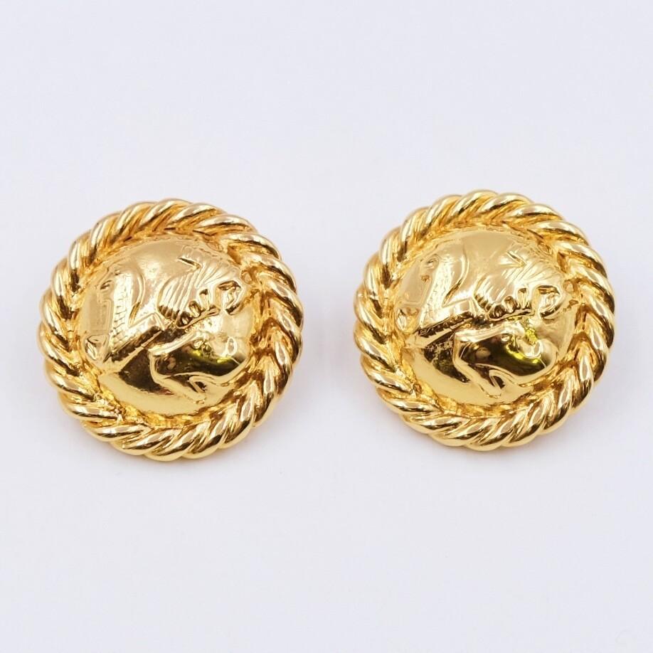Vintage Salvatore Ferragamo Clip On Earrings 1990s