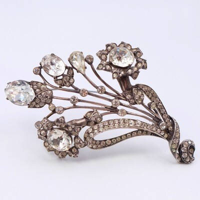 Collectible Eisenberg Sterling Massive Flower Brooch