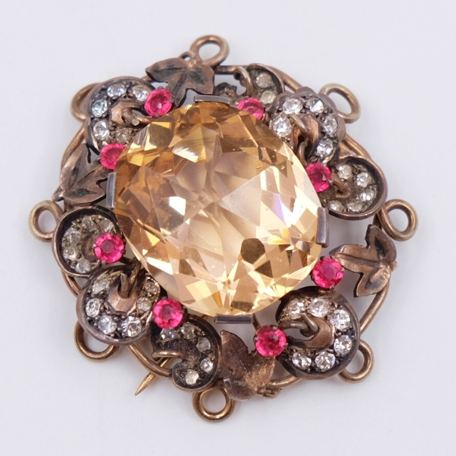 Antique French Depose Brooch 1930s