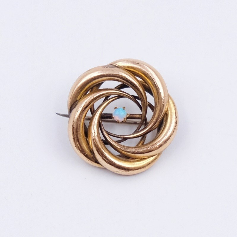 Antique Victorian Rose Gold Opal Tiny Brooch