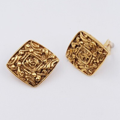 Vintage Chanel CC Earrings 1990s