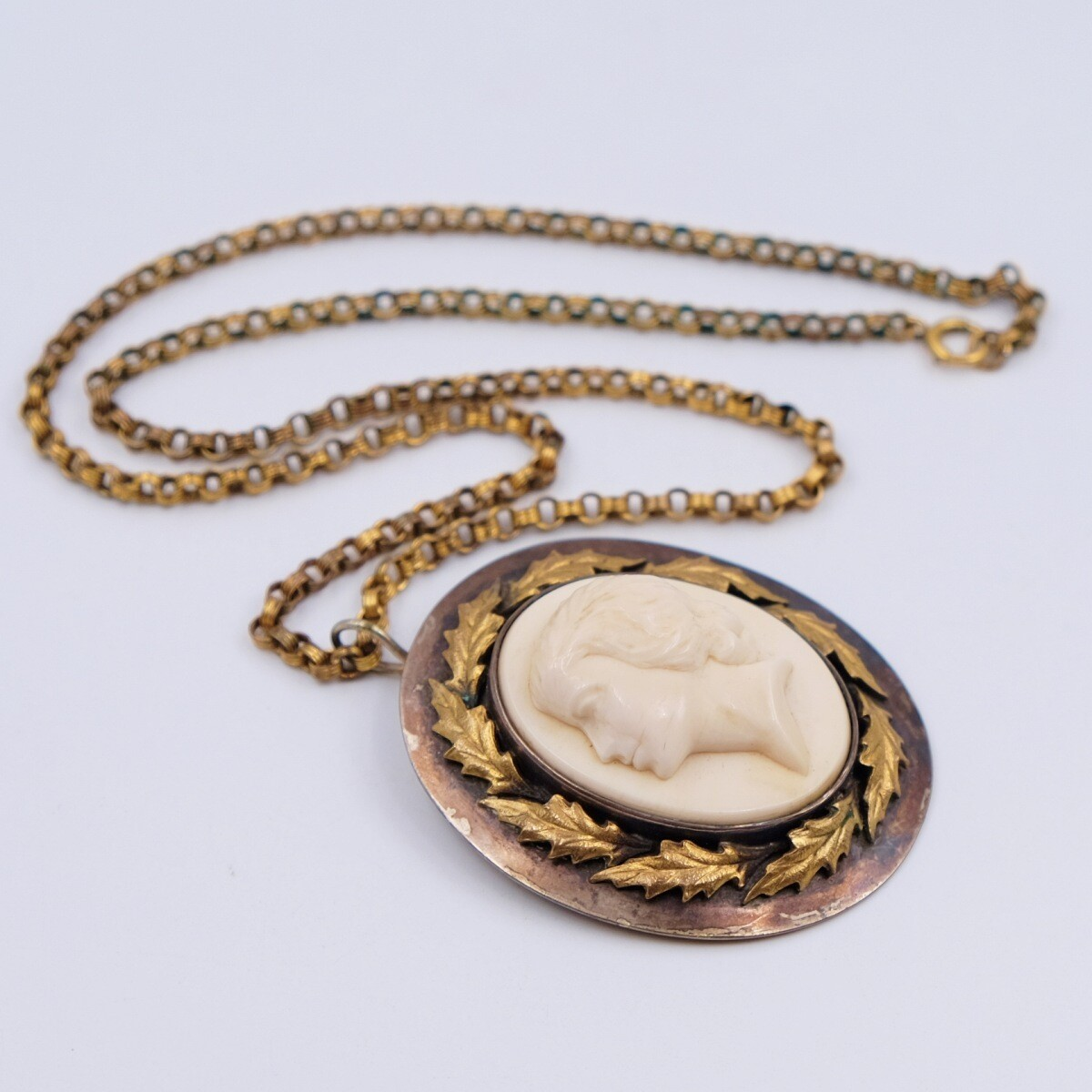 Antique Cameo Long Necklace 1910