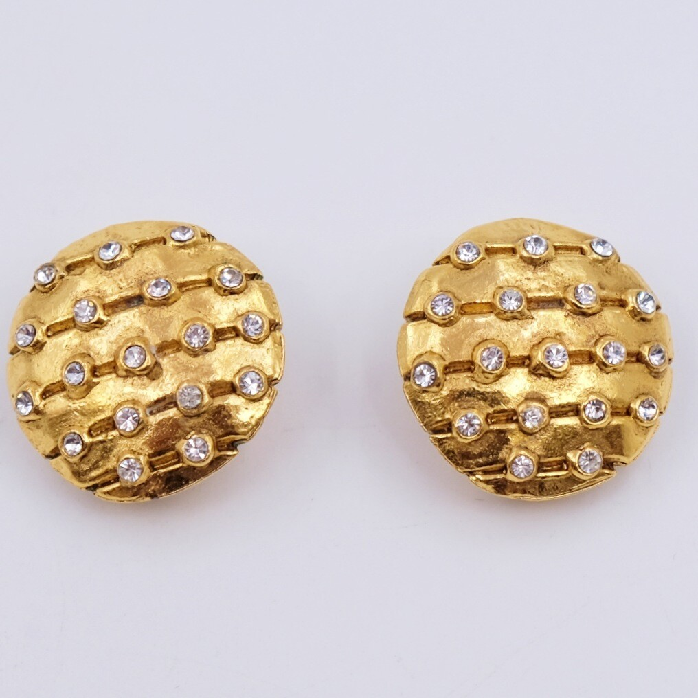 Vintage Chanel Round Planets Earrings 1980s