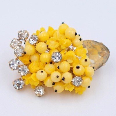 Collectible Eisenberg Yellow Bouquet Brooch 1950s