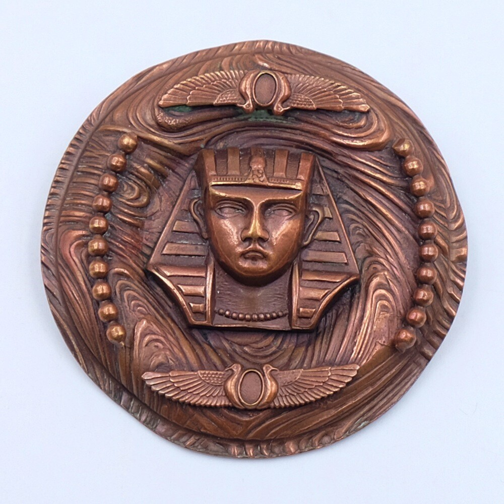 Antique Egyptian Revival Sphinx Brooch 1930s