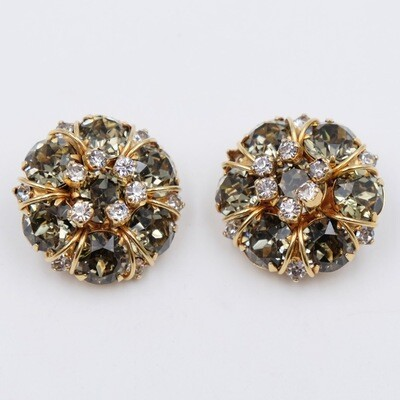Vintage Hattie Carnegie Book Piece Earrings