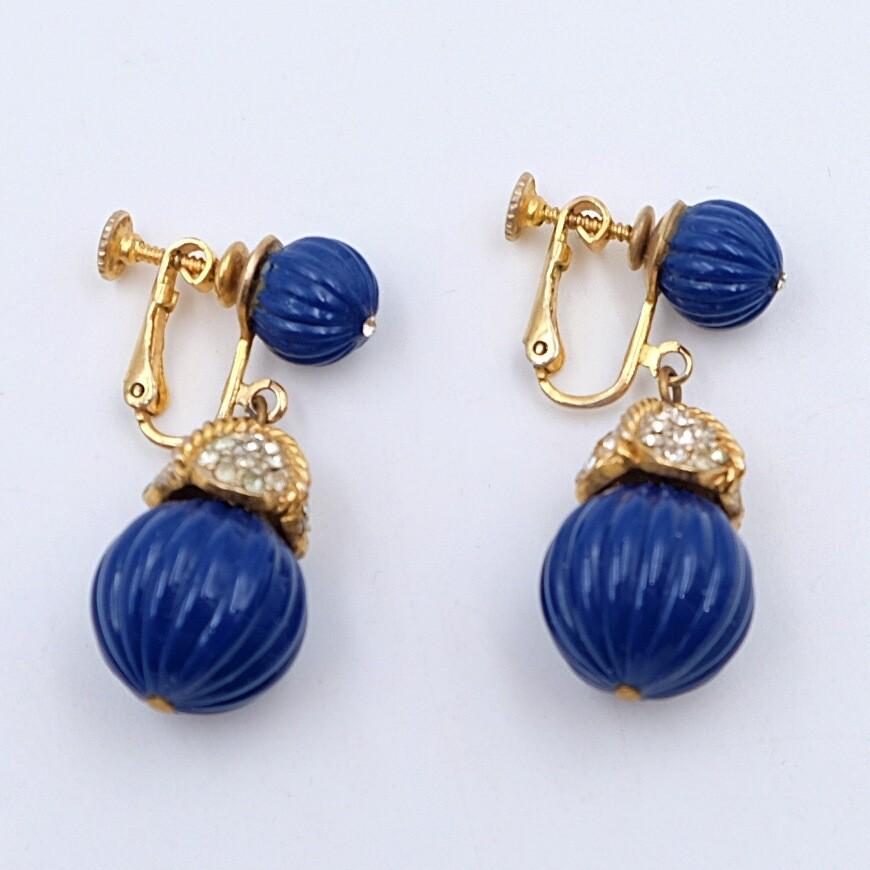 Vintage Clip On Earrings Plastic