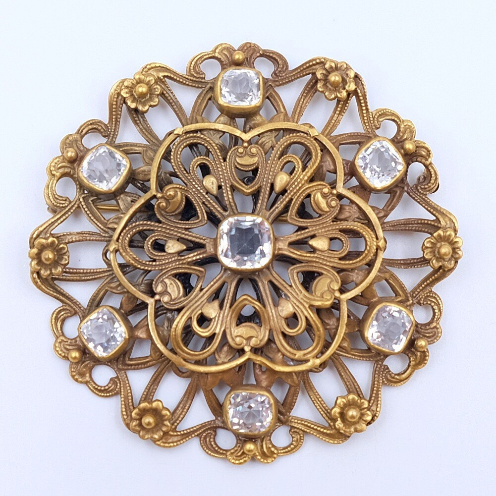 Vintage Joseff of Hollywood Filigree Brooch