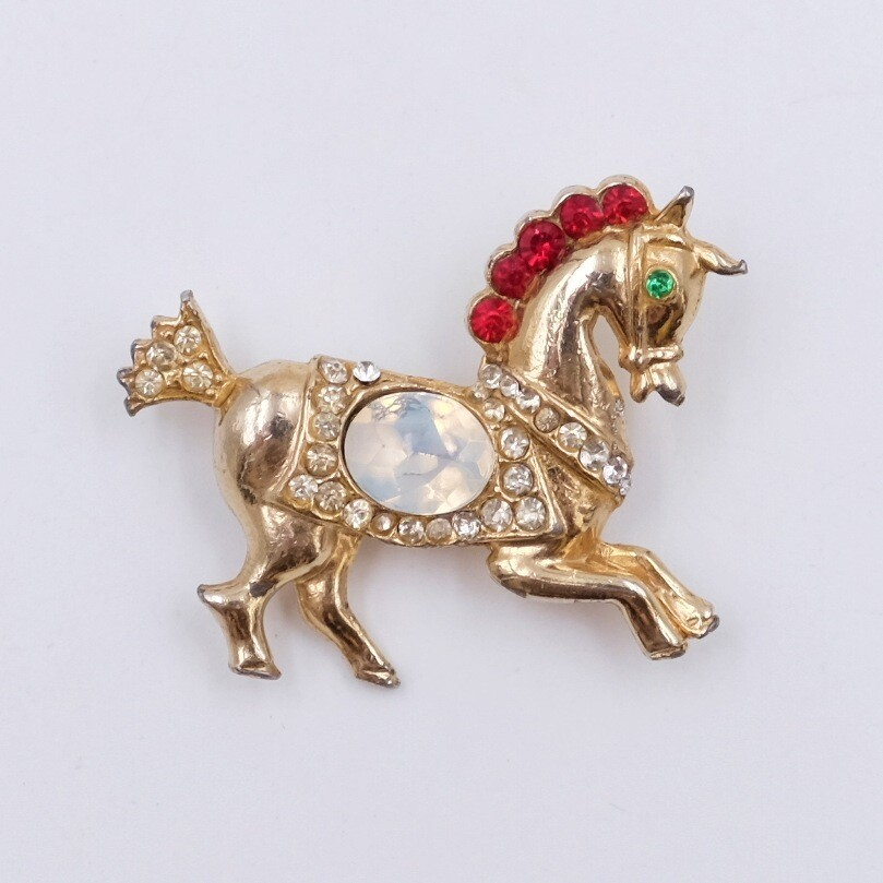 Vintage Horse Pin 1950s