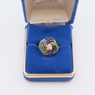 Винтажное кольцо Золото 14K размер 16